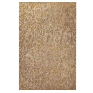 Hand-Tufted Indo Labyrinth Grey/ Brown Rug (7'10 x 9'10)