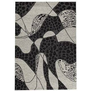 M.A.Trading Hand-Tufted Indo Riddle Black/ White Rug (7'10 x 9'10)