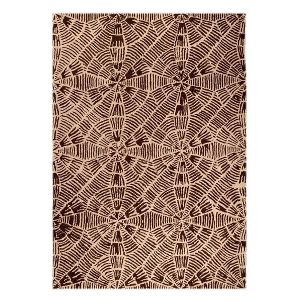 Handmade M.A.Trading Indo Labyrinth Beige/ Brown Rug (7'10 x 9'10) (India)