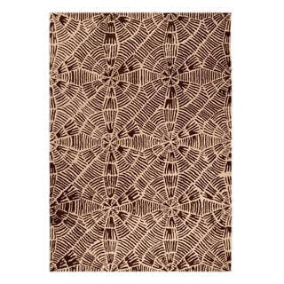M.A.Trading Hand-Tufted Indo Labyrinth Beige/ Brown Rug (7'10 x 9'10)