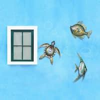Sunjoy Sea Life Hand-painted Iron Outdoor Wall Decor Set