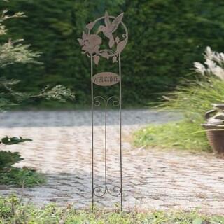 Sunjoy Welcome Hummingbird Garden Stake
