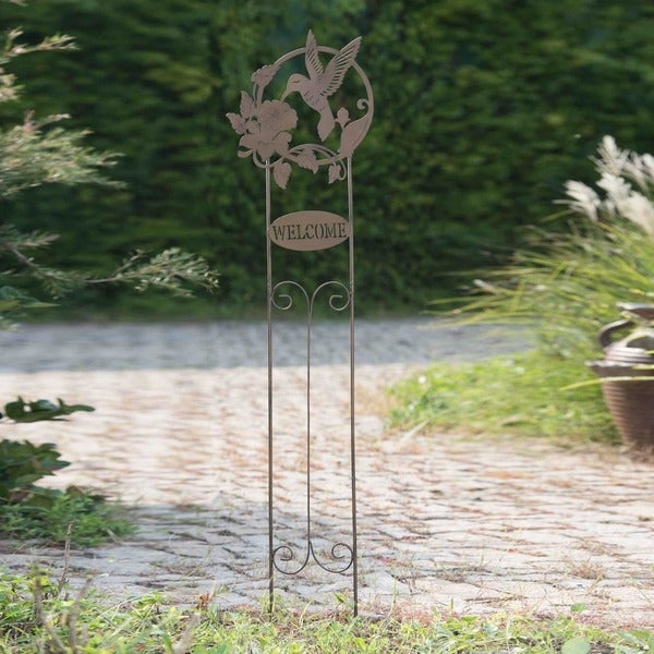 Sunjoy Welcome Hummingbird Garden Stake