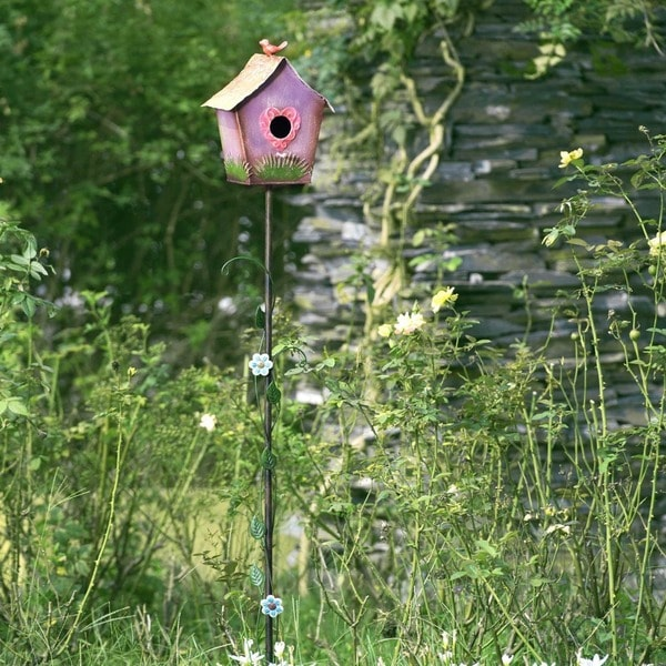 Shop Sunjoy Birdhouse Garden Stake Free Shipping On