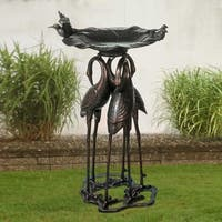 Sunjoy 28 Inch Cast Bird Bath
