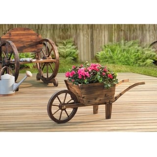 Sunjoy Baker Solid Wood Flower Cart