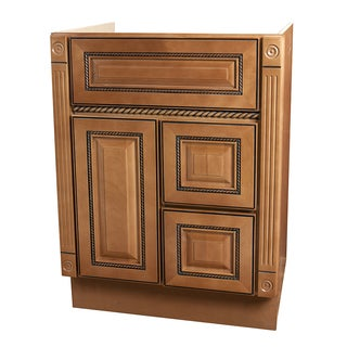 "Marquis Cinnamon Wood Finish Bathroom Vanity (24""x18"")"