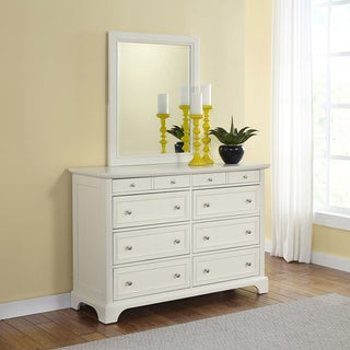 Naples White Dresser and Optional Mirror by Home Styles