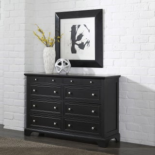 Gracewood Hollow Antoine Black Wood Dresser and Optional Matching Mirror (2 options available)