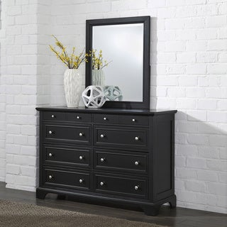 Bedford Black Wood Dresser and Optional Matching Mirror by Home Styles