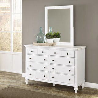 Bermuda Brushed White Dresser with Optional Mirror