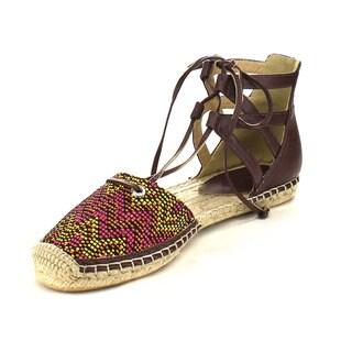 Beston AB79 Women's Lace Up Tribal Espadrille Flats