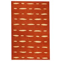 Handmade M.A.Trading Indo Wink Orange Rug (7'6 x 9'6) (India)