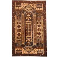 Handmade Herat Oriental Afghan 1980s Semi-antique Tribal Balouchi Wool Rug (Afghanistan) - 2'10 x 4'6