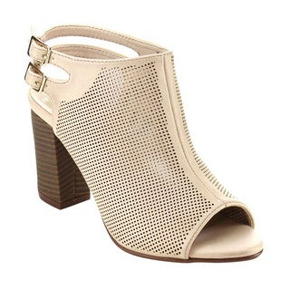 ATREVIDA BB92 Women's Ankle Strap Chunky Heel Booties Style Sandals