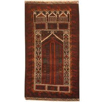 Herat Oriental Afghan Hand-knotted 1970s Semi-antique Tribal Balouchi Wool Rug (2'6 x 4'6) - 2'6 x 4'6