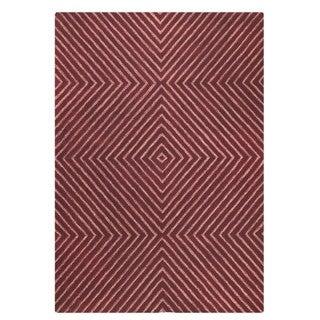 M.A.Trading Hand-Tufted Indo Union Square Mauve Rug (7'6 x 9'6)