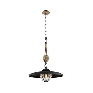 Troy Lighting Murphy Vintage Iron 24-inch Dish Pendant