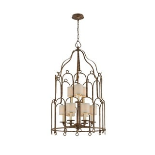 Troy Lighting Carousel 9-light Provence Bronze Pendant