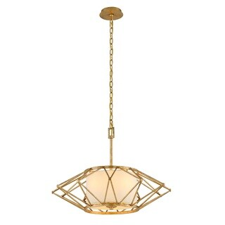 Troy Lighting Calliope Rustic Gold Leaf 26-inch Pendant