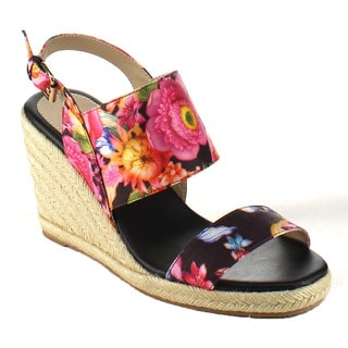 Women's Espadrille Flower Print Wedges