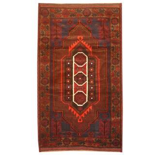 Handmade One-of-a-Kind Balouchi Wool Rug (Afghanistan) - 2'10 x 5'