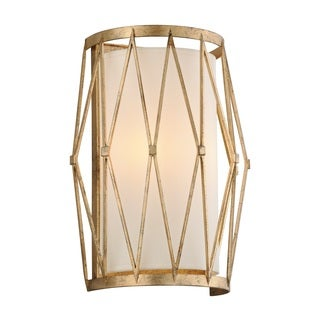 Troy Lighting Calliope Rustic Gold Leaf Wall Sconce