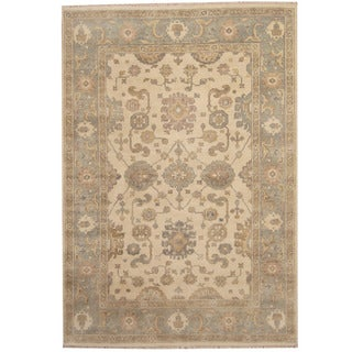 Herat Oriental Indo Hand-knotted Oushak Wool Rug (6' x 9')