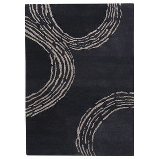Hand-Tufted Indo Pamplona Charcoal Rug (5'6 x 7'10)
