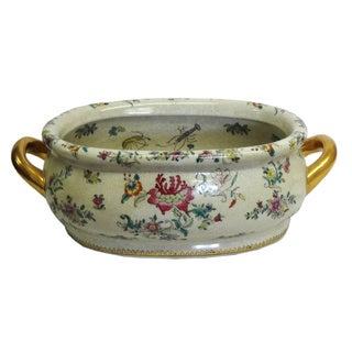 Spring Blooms Porcelain Footbath
