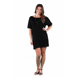 24/7 Comfort Apparel Women's Plus Size T-shirt Dress