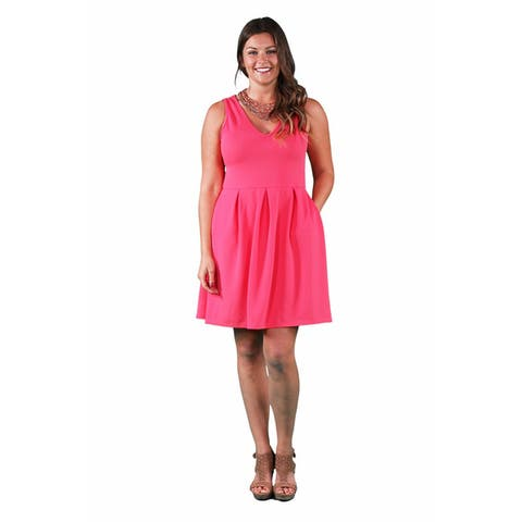 24/7 Comfort Apparel Women's Plus Size Sleeveless A-line Dress