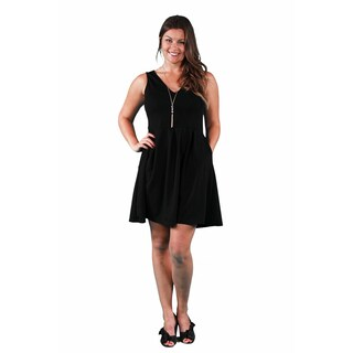 24/7 Comfort Apparel Women's Plus Size Sleeveless A-line Dress (More options available)