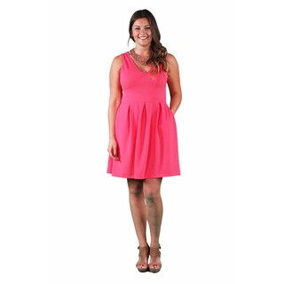 24/7 Comfort Apparel Women's Plus Size Sleeveless A-line Dress (3 options available)