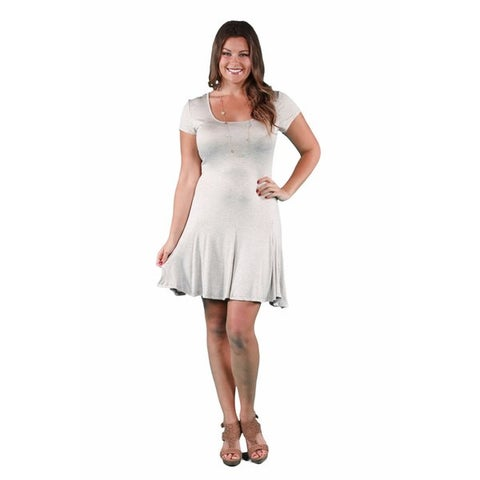 24/7 Comfort Apparel Women's Plus Size Short Sleeve A-Line Dress