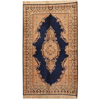 Herat Oriental Persian Hand-knotted 1960s Semi-antique Kerman Wool Rug (5' x 8')