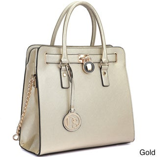 Dasein Large Tote Bag with Chain Shoulder Strap
