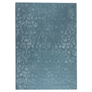 Hand-Tufted Indo Santoor Turquoise Rug (8'3 x 11'6)