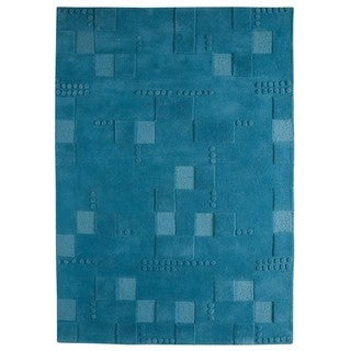 M.A. Trading Hand-tufted Indo Miami Turqouise Rug (6'6 x 9'9)