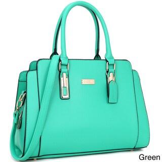 Dasein Women's Faux Leather Medium Satchel Handbag