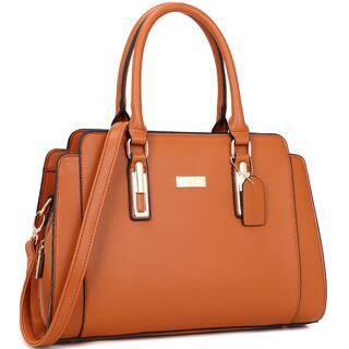 Dasein Women's Faux Leather Medium Satchel Handbag (Option: Orange) https://ak1.ostkcdn.com/images/products/11551478/P18495892.jpg?impolicy=medium