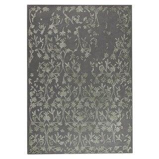 Hand-Tufted Indo Santoor Grey Rug (8'3 x 11'6)