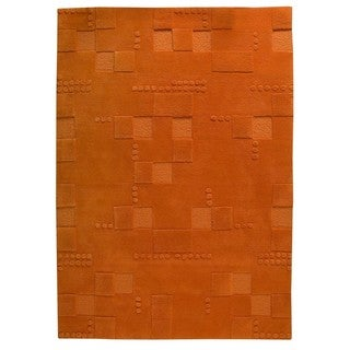 Hand-Tufted Indo Miami Orange Rug (6'6 x 9'9)