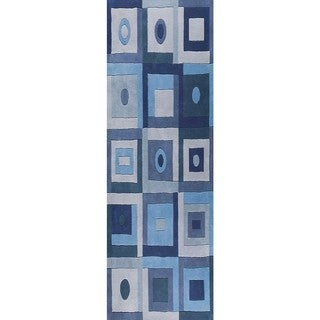 M.A.Trading Hand-Tufted Indo Berlin Blue Rug (2'8 x 7'10)