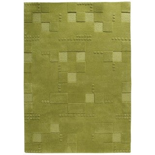 Hand-Tufted Indo Miami Green Rug (6'6 x 9'9)