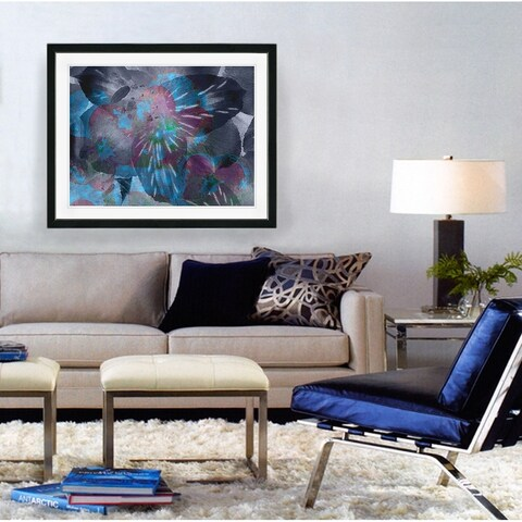 Studio Works Modern 'Duchess Flowers' Wall Art Framed Fine Art Print