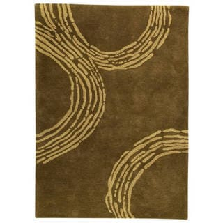 M.A.Trading Hand-Tufted Indo Pamplona Olive Green Rug (8'3 x 11'6)