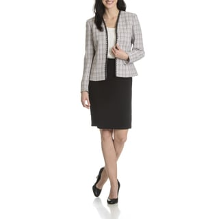 Tahari Arthur S. Levine Women's Soutache Trim Boucle 2-piece Skirt Suit