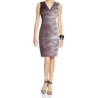 T Tahari Carly Gray Jacquard Dress