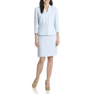 Tahari Arthur S. Levine Women's Pearl Trim 2 Piece Skirt Suit